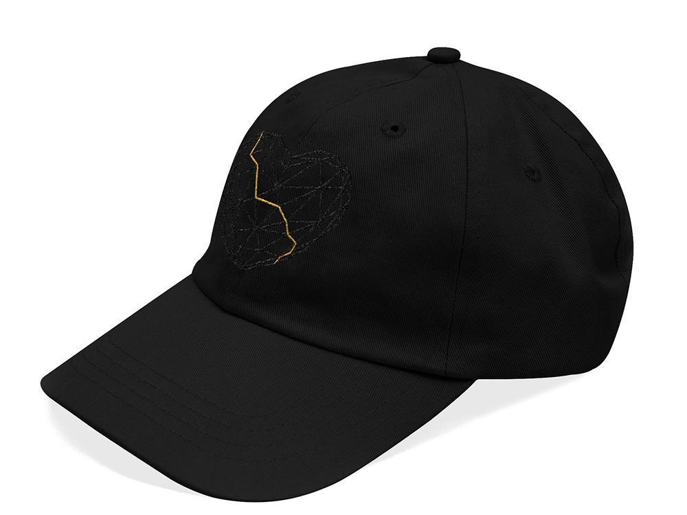 KINTSUGI 6 PANEL HAT Black